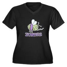Zombee *new design* Women's Plus Size V-Neck Dark