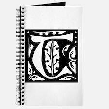 Art Nouveau Initial T Journal