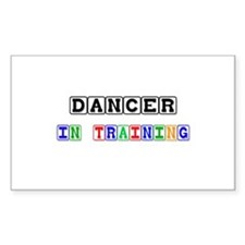 Dancer In Training Rectangle Decal