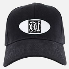 Art Nouveau Initial W Baseball Hat
