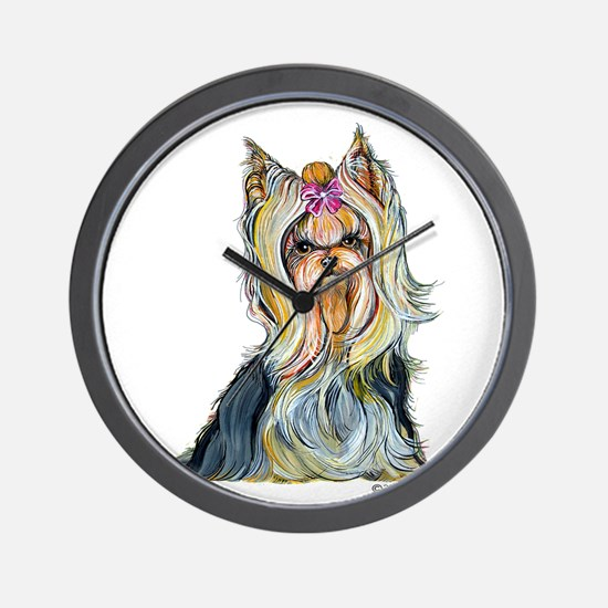 Yorkshire Terrier Her Highnes Wall Clock
