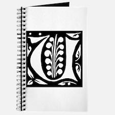 Art Nouveau Initial U Journal