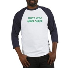 Daddys little Angel Shark Baseball Jersey