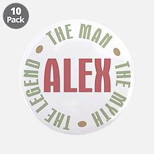 "Alex Man Myth Legend 3.5"" Button (10 pack)"