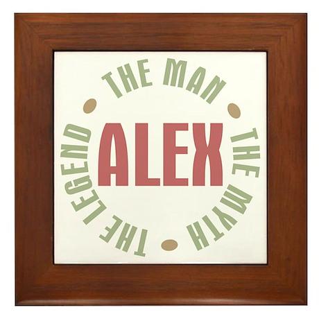 Alex Man Myth Legend Framed Tile
