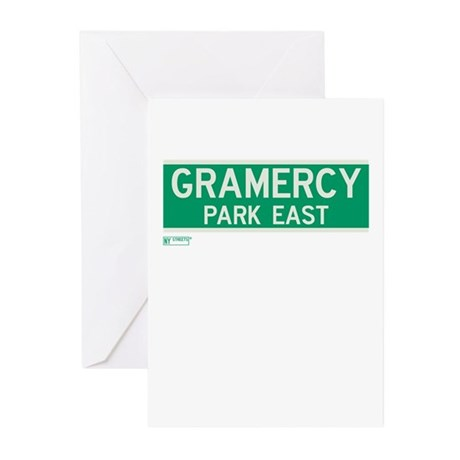 Gramercy Park East in NY Greeting Cards (Pk of 10)