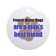 French Water Dogs man's best friend Ornament (Roun