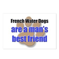 French Water Dogs man's best friend Postcards (Pac