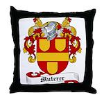 Muterer Family Crest Throw Pillow