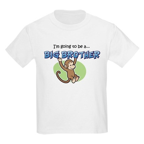 Big Brother to be (Monkey) Kids Light T-Shirt