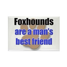 Foxhounds man's best friend Rectangle Magnet (10 p