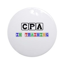 Cpa In Training Ornament (Round)