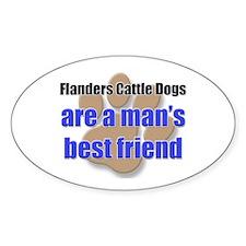 Flanders Cattle Dogs man's best friend Decal