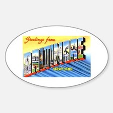 Baltimore Maryland Greetings Oval Bumper Stickers