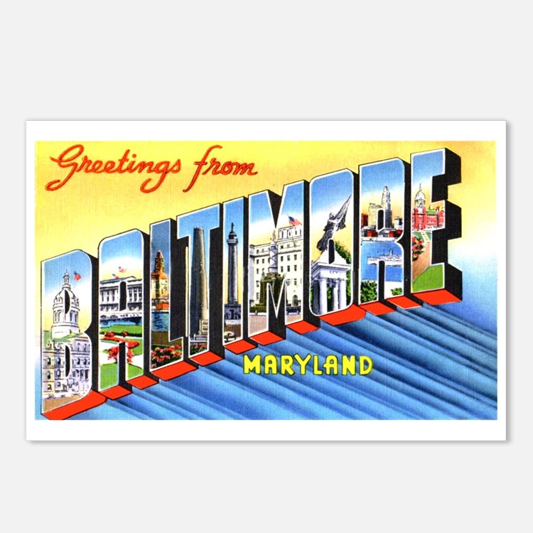 Baltimore Maryland Greetings Postcards (Package of