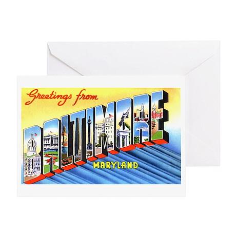 Baltimore Maryland Greetings Greeting Card