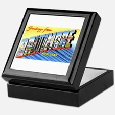 Baltimore Maryland Greetings Keepsake Box