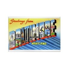 Baltimore Maryland Greetings Rectangle Magnet (10