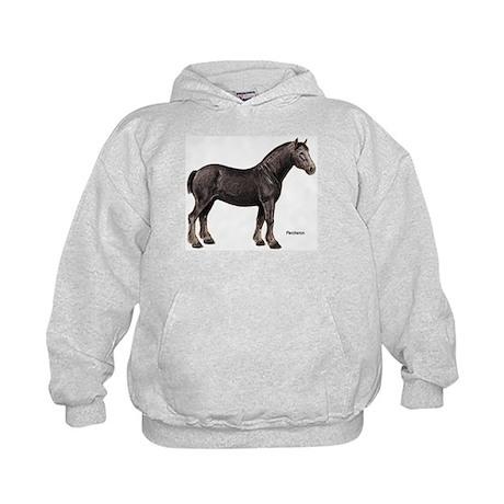 Percheron Horse Kids Hoodie