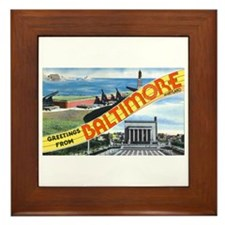 Baltimore Maryland Greetings Framed Tile