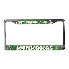 My Children Leonberger License Plate Frame