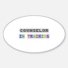 Counselor In Training Oval Decal