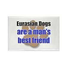 Eurasian Dogs man's best friend Rectangle Magnet