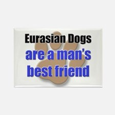 Eurasian Dogs man's best friend Rectangle Magnet (