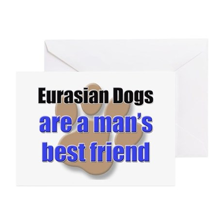 Eurasian Dogs man's best friend Greeting Cards (Pk