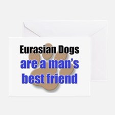Eurasian Dogs man's best friend Greeting Cards (Pk