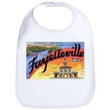 Fayetteville North Carolina Greetings Bib