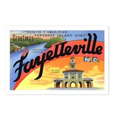 Fayetteville North Carolina Greetings Postcards (P