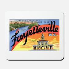 Fayetteville North Carolina Greetings Mousepad