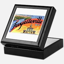 Fayetteville North Carolina Greetings Keepsake Box