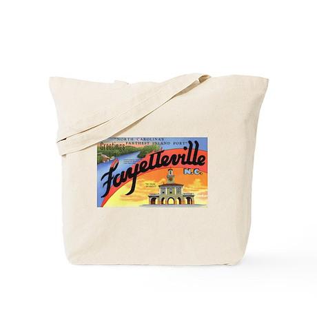 Fayetteville North Carolina Greetings Tote Bag