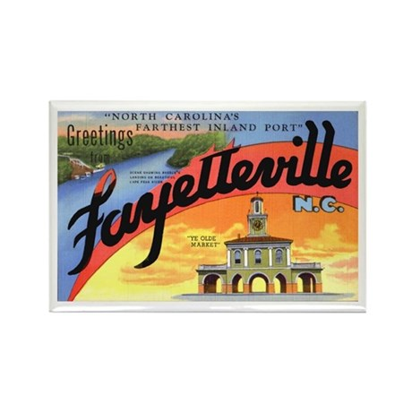 Fayetteville North Carolina Greetings Rectangle Ma