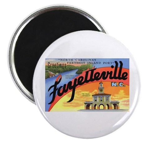 "Fayetteville North Carolina Greetings 2.25"" Magnet"