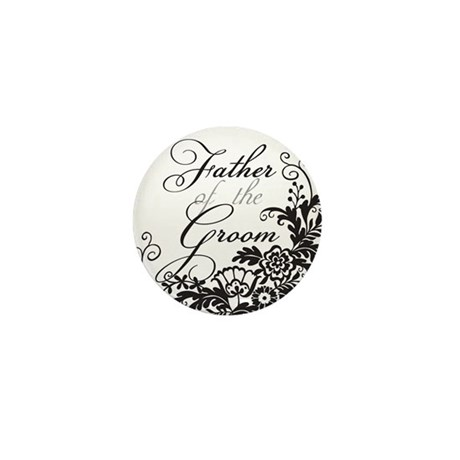 Elegant Floral Father of the Groom Mini Button