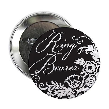 """Elegant Floral Ring Bearer 2.25"""" Button"""