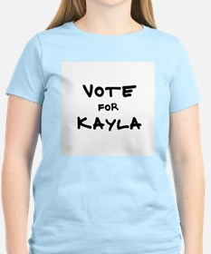 Vote for Kayla Women's Pink T-Shirt
