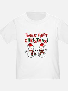 Twins' 1st Christmas - Snowman T
