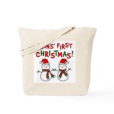 Twins' 1st Christmas - Snowman Tote Bag