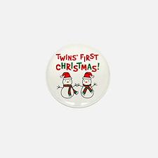 Twins' 1st Christmas - Snowman Mini Button