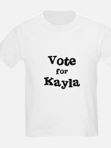 Vote for Kayla Kids T-Shirt
