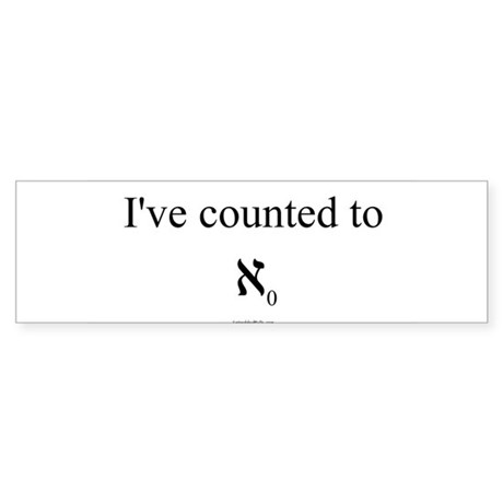 I've counted to aleph naught - Sticker (Bumper 50