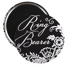 Elegant Floral Ring Bearer Magnet