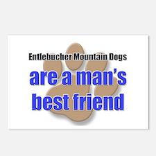 Entlebucher Mountain Dogs man's best friend Postca
