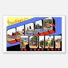Cedar Point Ohio Greetings Rectangle Bumper Stickers