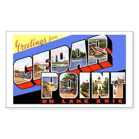 Cedar Point Ohio Greetings Rectangle Sticker