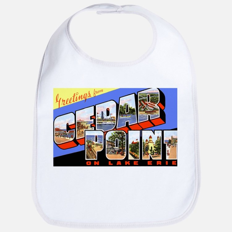 Cedar Point Ohio Greetings Bib